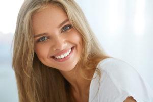 radio frequency skin tightening beautiful woman